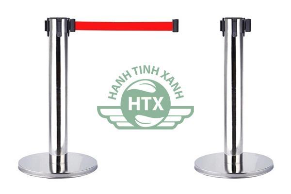 Thân cột chắn inox dây căng màu đỏ dài 3m được thiết kế đặc biệt