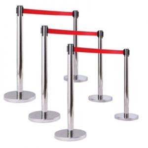 Báo giá cột chắn inox dây căng màu đỏ dài 3m giá rẻ chất lượng