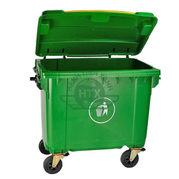 Thùng rác nhựa 660L giúp thu gom rác thải nhiều hơn