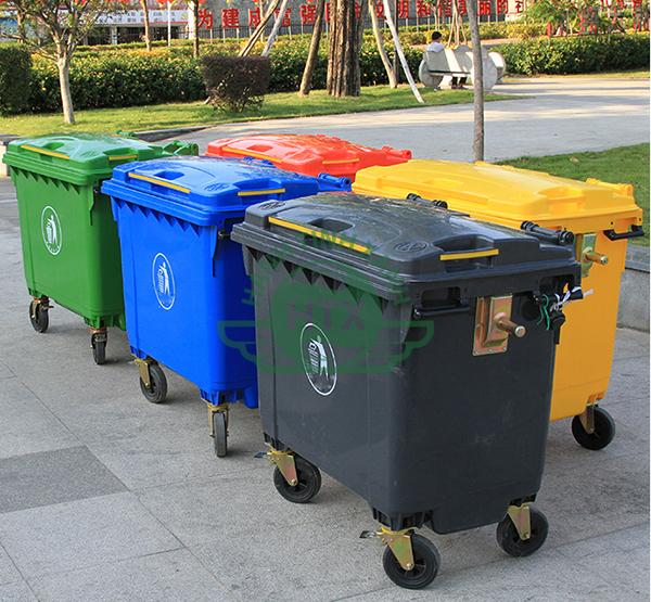 Thùng rác nhựa công nghiệp 660L