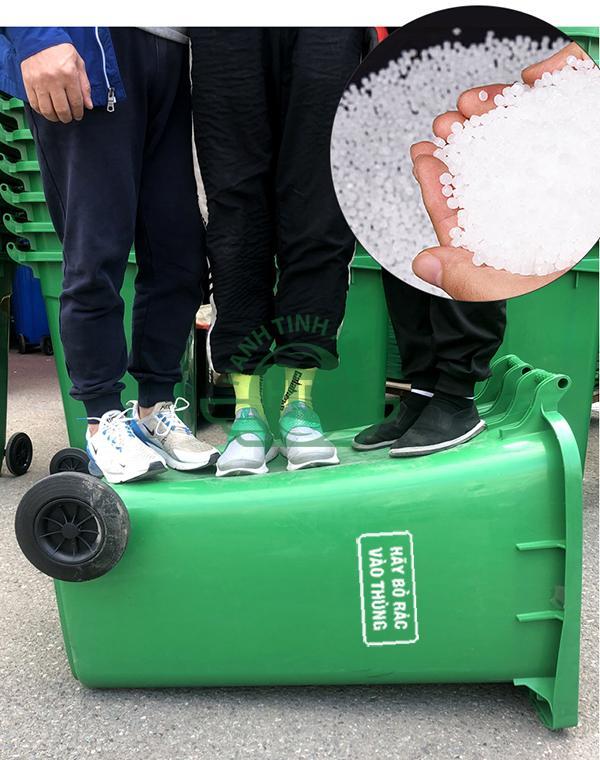 Chất liệu cấu thành sản phẩm thùng rác nhựa HDPE 240L