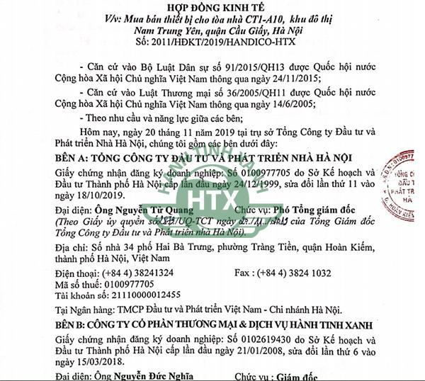 Hành Tinh Xanh ký kết hợp đồng với dự án Handico Nguyễn Chánh