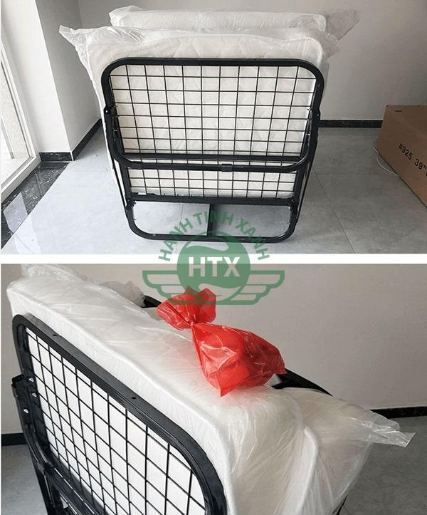 Giường có thể gấp gọn tiện lợi khi không sử dụng