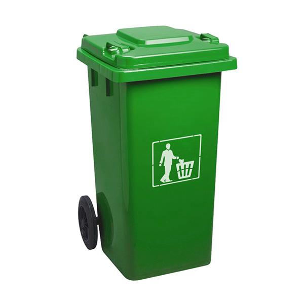 Thùng rác nhựa 240L màu xanh lá cao cấp