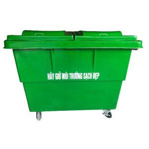 Thùng rác dung tích lớn, chứa được nhiều loại rác thải khác nhau