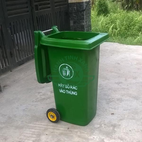 Thùng rác composite 120L bền đẹp, cao cấp