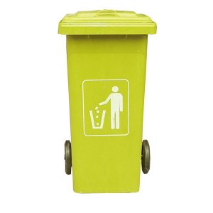 Thùng rác composite 120 lít màu vàng cao cấp, bền bỉ