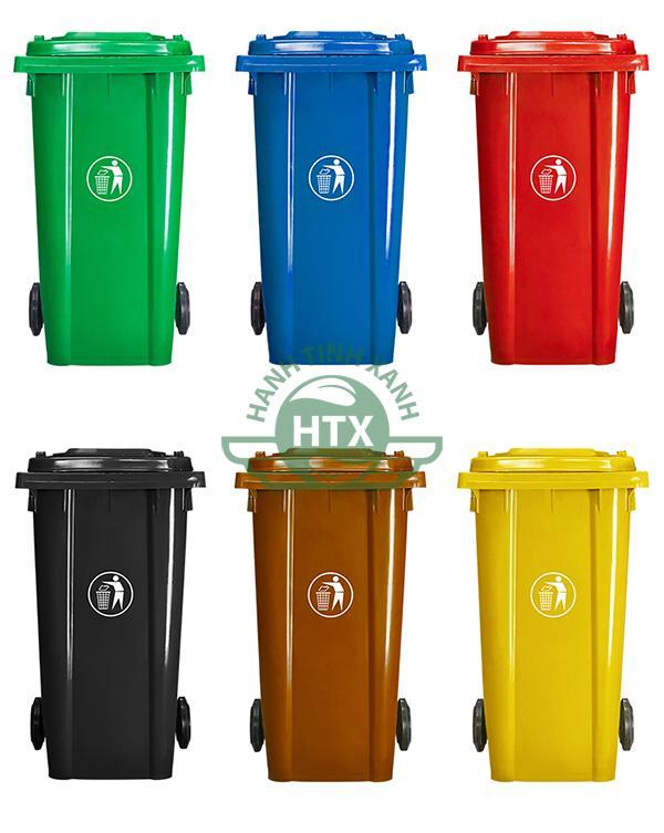 Thùng rác composite 240L màu xanh lá cây