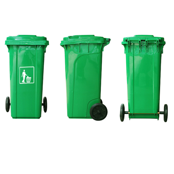 Hình ảnh 3 mặt của thùng rác nhựa composite cao cấp
