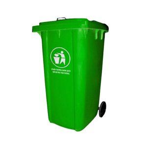 Thùng rác nhựa composite 240 lít màu xanh lá