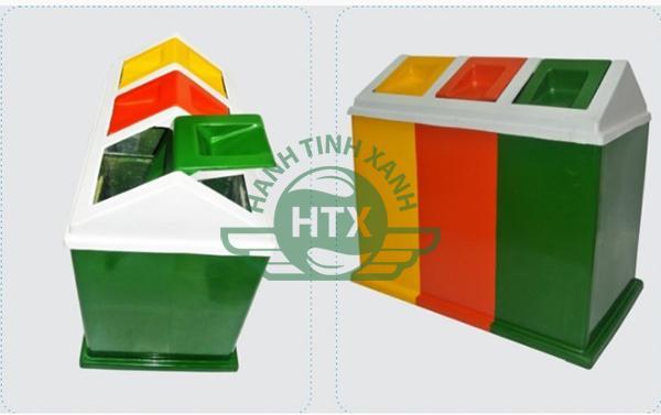 Thùng rác composite 3 ngăn cao cấp, bền bỉ