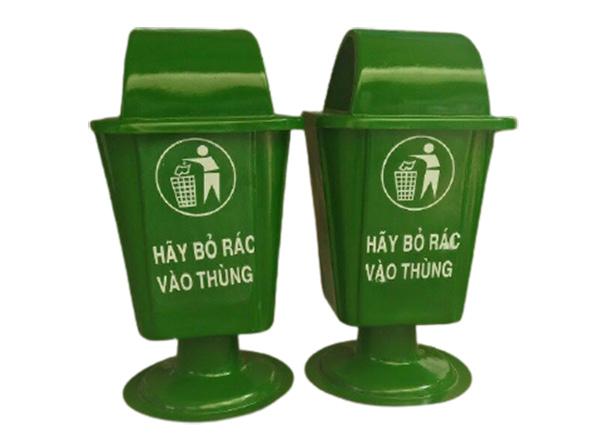 Thùng rác composite chân nhựa dung tích 50L cao cấp