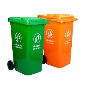Thùng rác nhựa 240L HDPE cao cấp, bền bỉ, đa dạng màu sắc