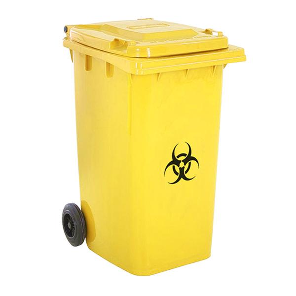 Thùng rác có nắp đậy kín, bánh xe chịu lực linh hoạt