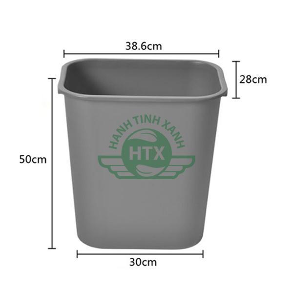 Thông số kích thước thùng đựng rác nhựa dung tích 35L