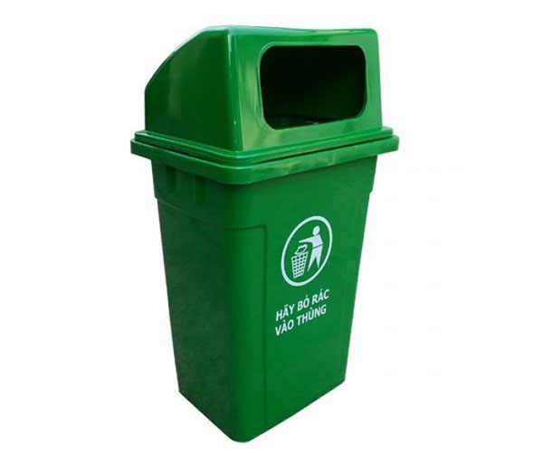 Thùng rác nhựa 90L nắp hở đảm bảo chất lượng và giá thành