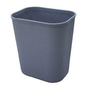 Thùng rác nhựa có vân hoa 8L (màu ghi) bền đẹp, cao cấp