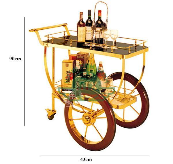 Kích thước của xe đẩy đồ uống 3 bánh